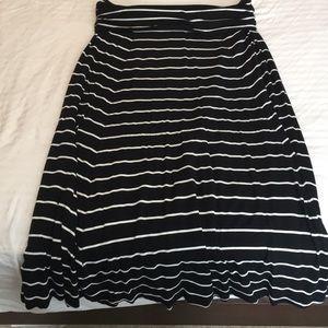 Gap Black & White Stripe Fold over maxi